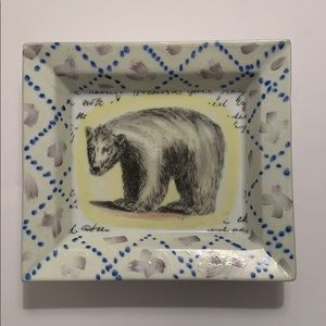 John Derian hand painted dish
